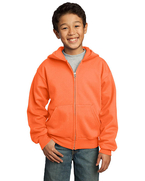 Port & Company PC90YZH Boys Full-Zip Hooded Sweatshirt at GotApparel