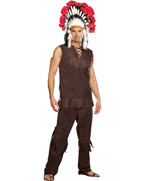 Halloween Costumes RL9189MD Men Chief Long Arrow Medium at GotApparel