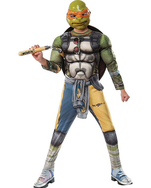 Halloween Costumes RU620823SM Boys Tmnt2 Michelangelo Child Small at GotApparel