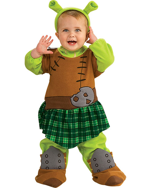 Halloween Costumes RU885539N Girls Shrek 4 Fiona Warrior Newborn at GotApparel