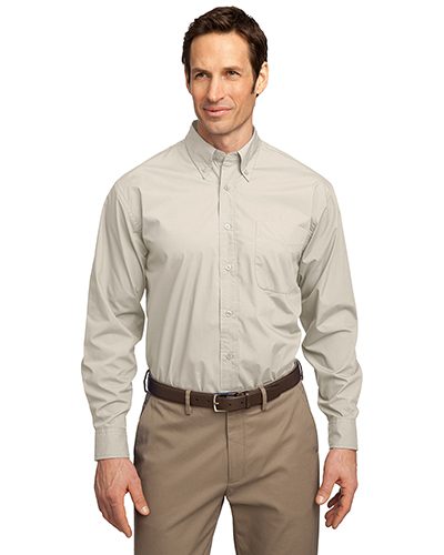 Port Authority S607 Men Long-Sleeve Easy Care Soil Resistant Shirt at GotApparel