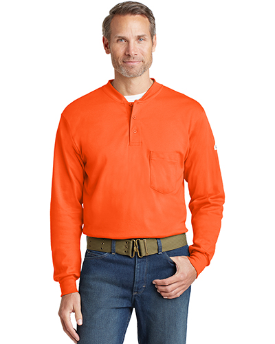 Custom Embroidered Bulwark SEL2 Men Long-Sleeve Tagless Henley at GotApparel
