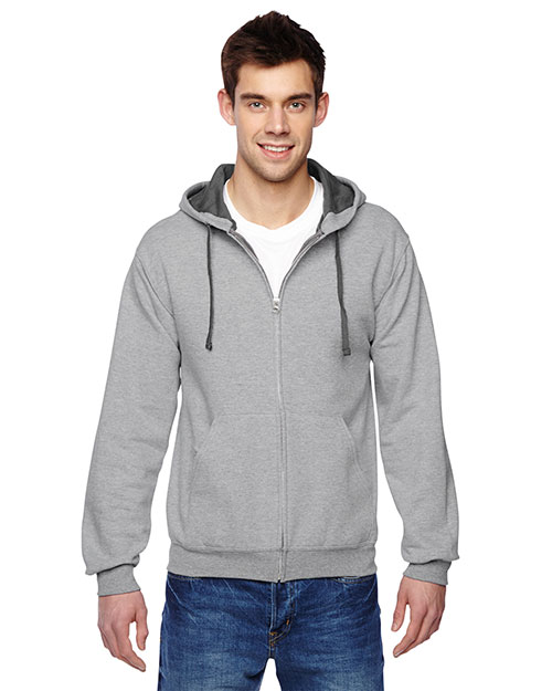 Fruit Of The Loom SF73R Adult 7.2 Oz. Sofspun Full-Zip Hooded Sweatshirt at GotApparel