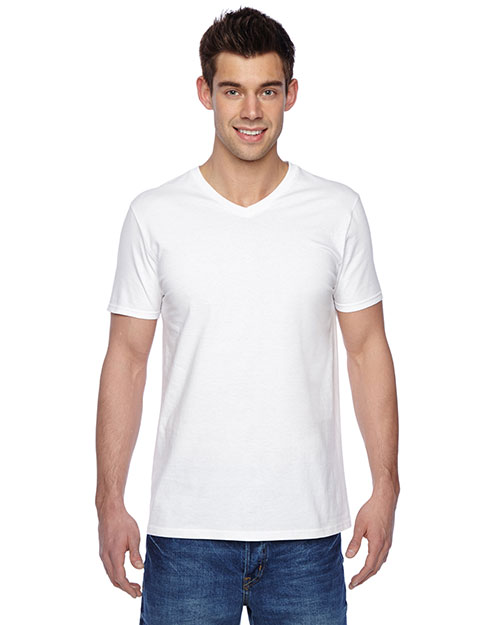 Fruit Of The Loom SFVR Unisex 4.7 Oz. 100% Sofspun Cotton Jersey V-Neck T-Shirt at GotApparel
