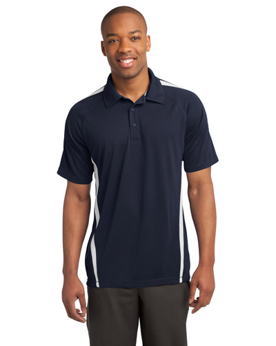 Sport-Tek® ST685 Men PosiCharge® Micromesh Colorblock Polo at GotApparel