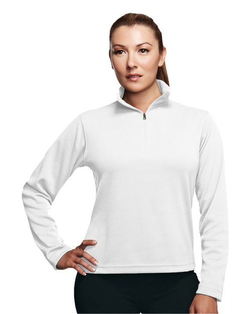Tri-Mountain 652 Women Mission Poly Ultracool Pique 1/4 Zip Pullover Shirt at GotApparel