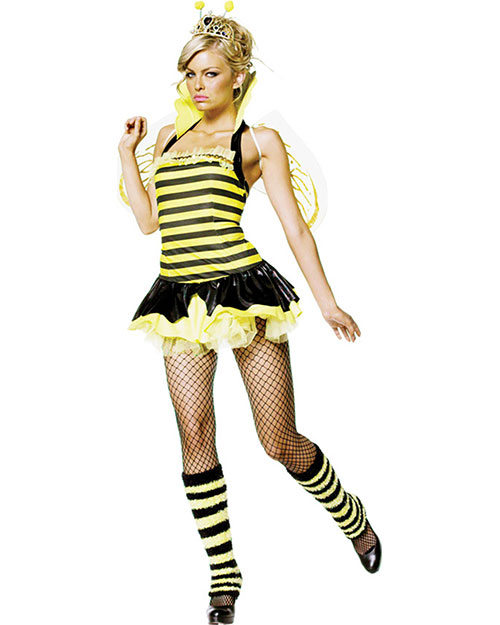 Halloween Costumes UA83275XS Women Queen Bumble Bee Sexy 4 Pc Xsm at GotApparel