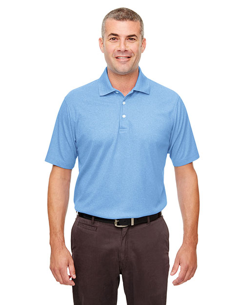 Ultraclub UC100 Men Heathered Pique Polo at GotApparel