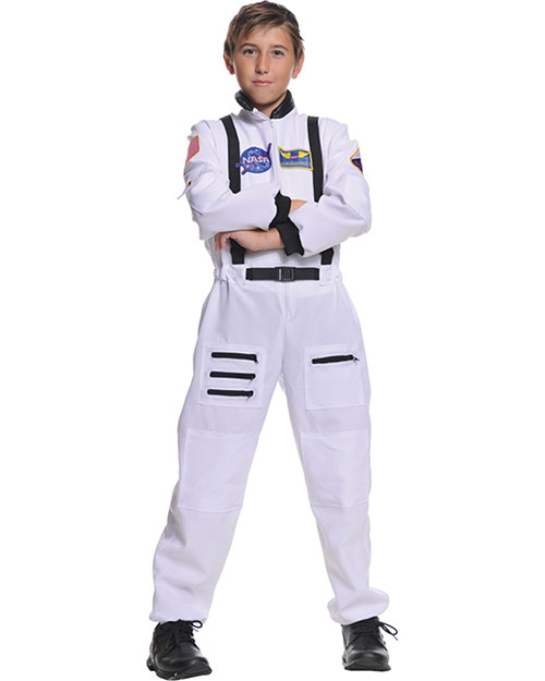 Halloween Costumes UR26982SM Boys Astronaut White Child 4-6 at GotApparel