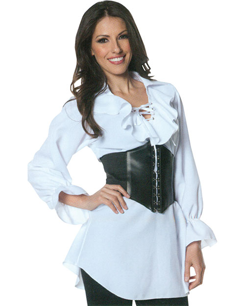 Morris Costumes UR28308MD Pirate Laced Front Blouse Med at GotApparel