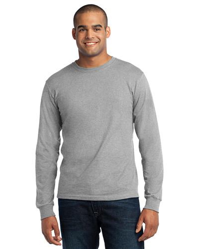 Port & Company USA100LS Men Long-Sleeve All American Tee at GotApparel
