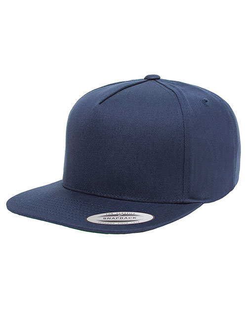 Yupoong Y6007 Men 5-Panel Cotton Twill Snapback Cap at GotApparel
