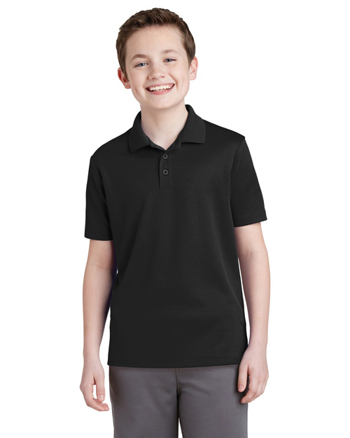 Sport-Tek® YST640 Boys Youth PosiCharge®  Racermesh  Polo at GotApparel