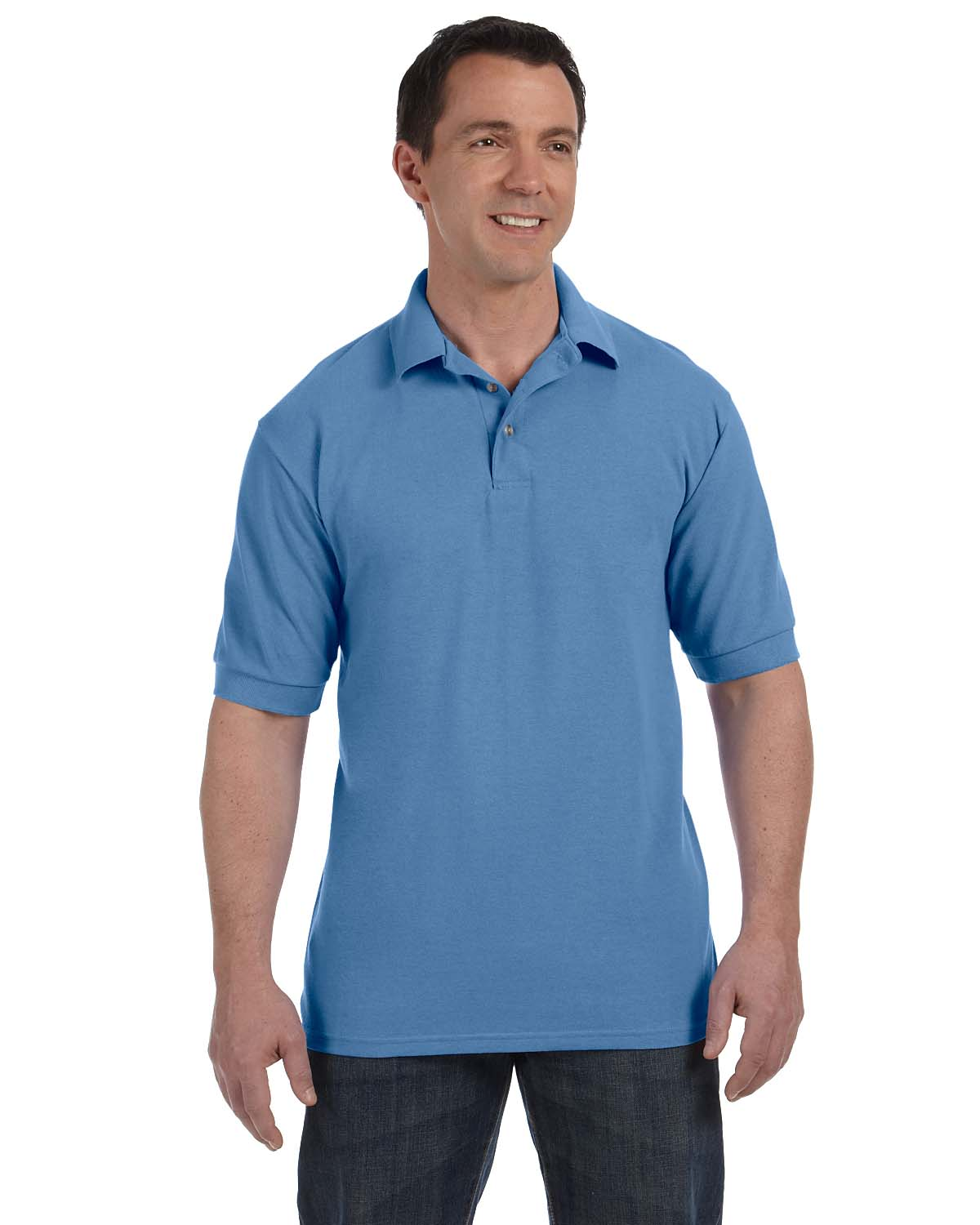 Hanes 055 Men 7 oz. ComfortSoft Cotton Pique Polo at GotApparel