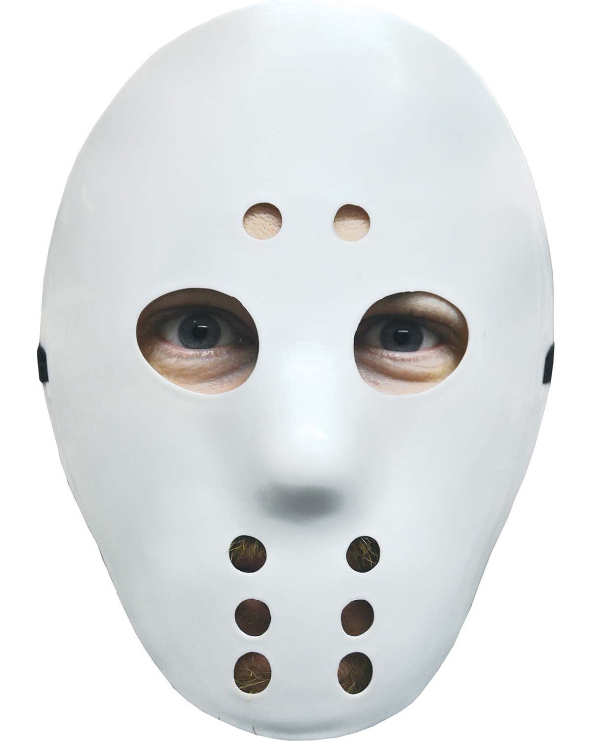 Halloween Costumes 10557  HOCKEY MASK WHITE at GotApparel