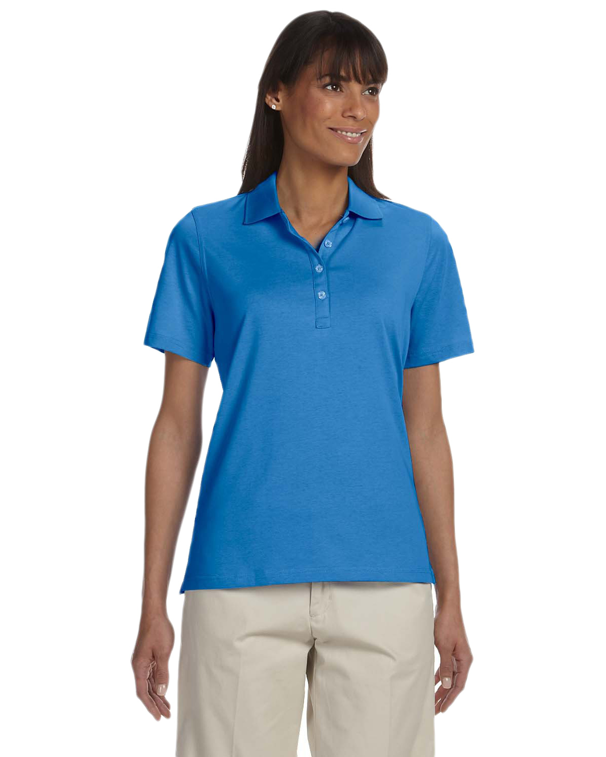 Ashworth 1147C Women's High Twist Cotton Tech Polo at GotApparel