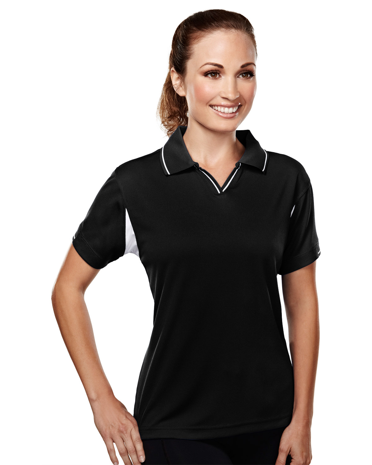 TRI-MOUNTAIN PERFORMANCE 114 Women Movement Poly Ultracool Waffle Short Sleeve Knit Golf Shirt at GotApparel