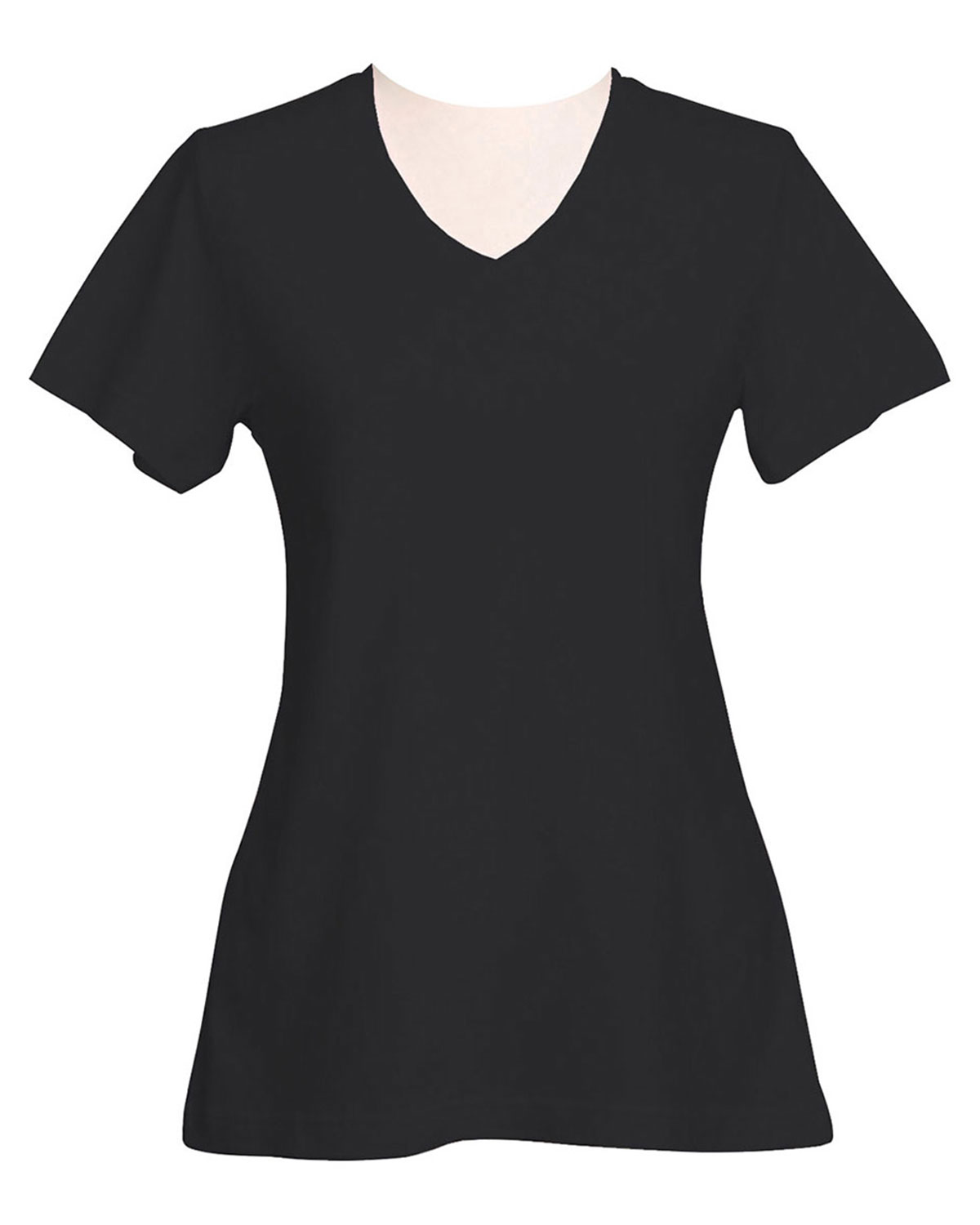 Tri-Mountain 130 Women Appeal Cotton Jersey Short Sleeve V-Neck Knit at GotApparel
