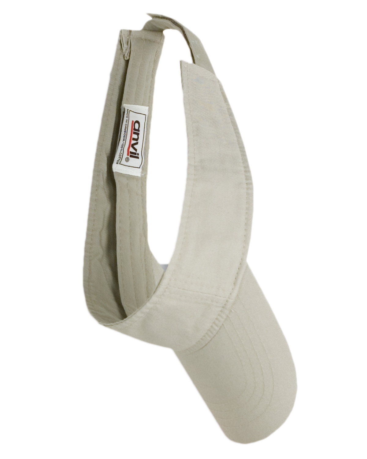 Anvil 158 Unisex Solid Low-Profile Twill Visor at GotApparel