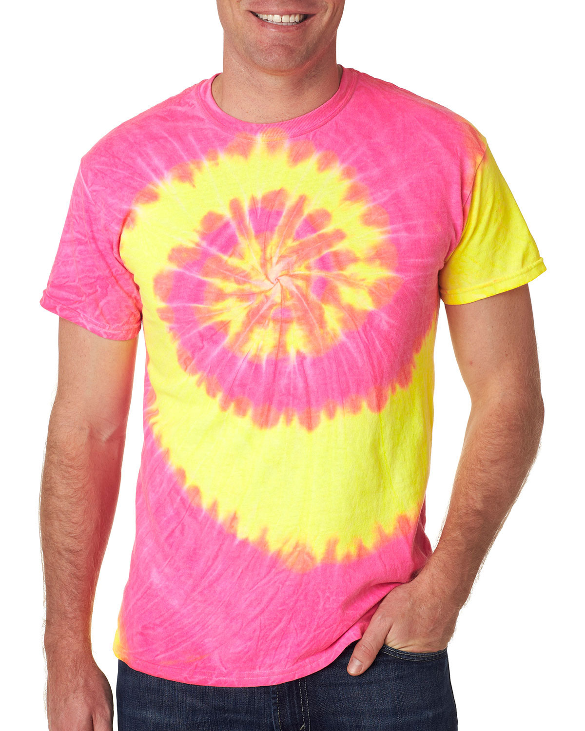 Gildan Tie-Dyes 94 Dyenomite Adult Tides/Waves Tee at GotApparel