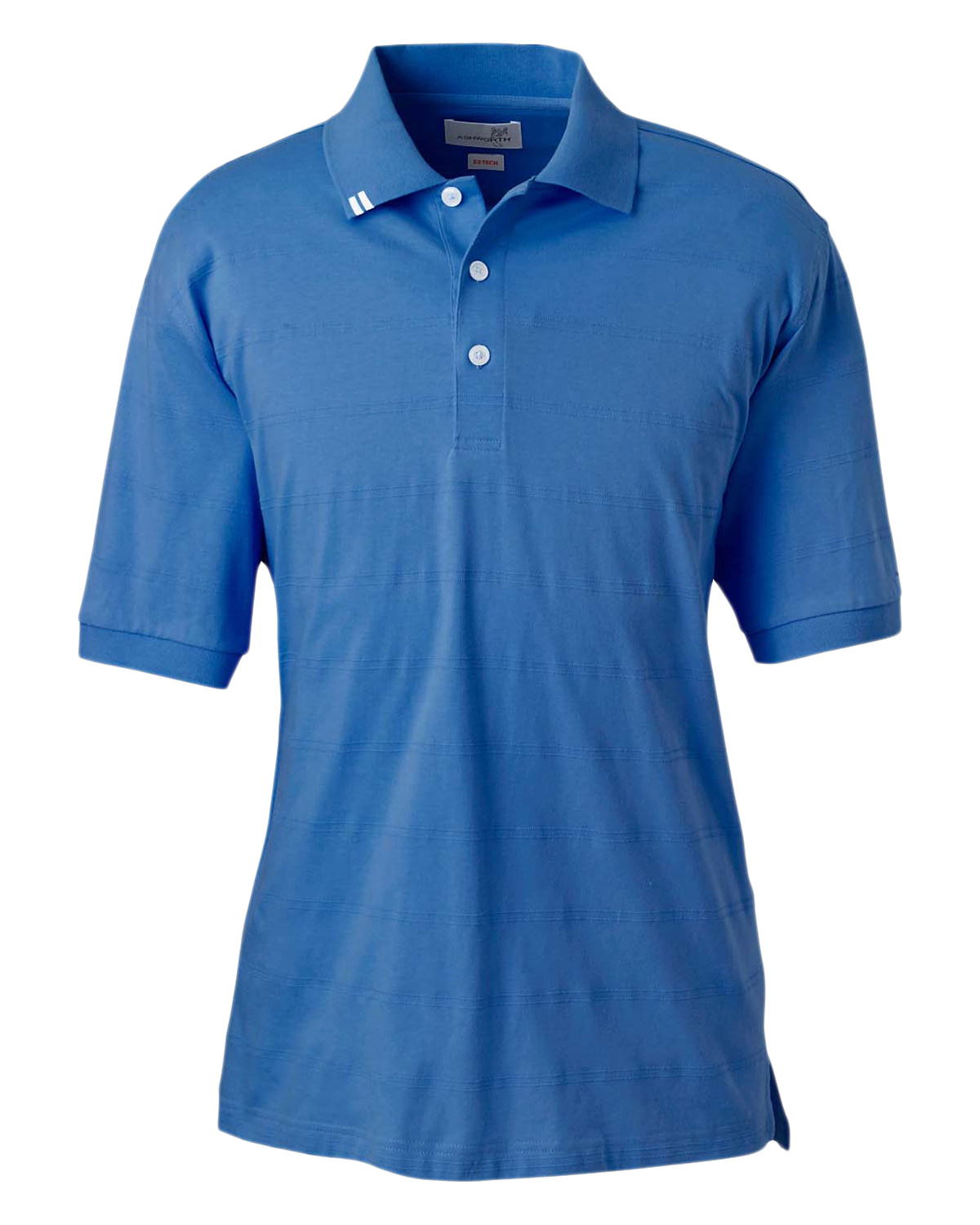 Ashworth 2013 Men EzTech Jersey Textured Stripe Polo at GotApparel