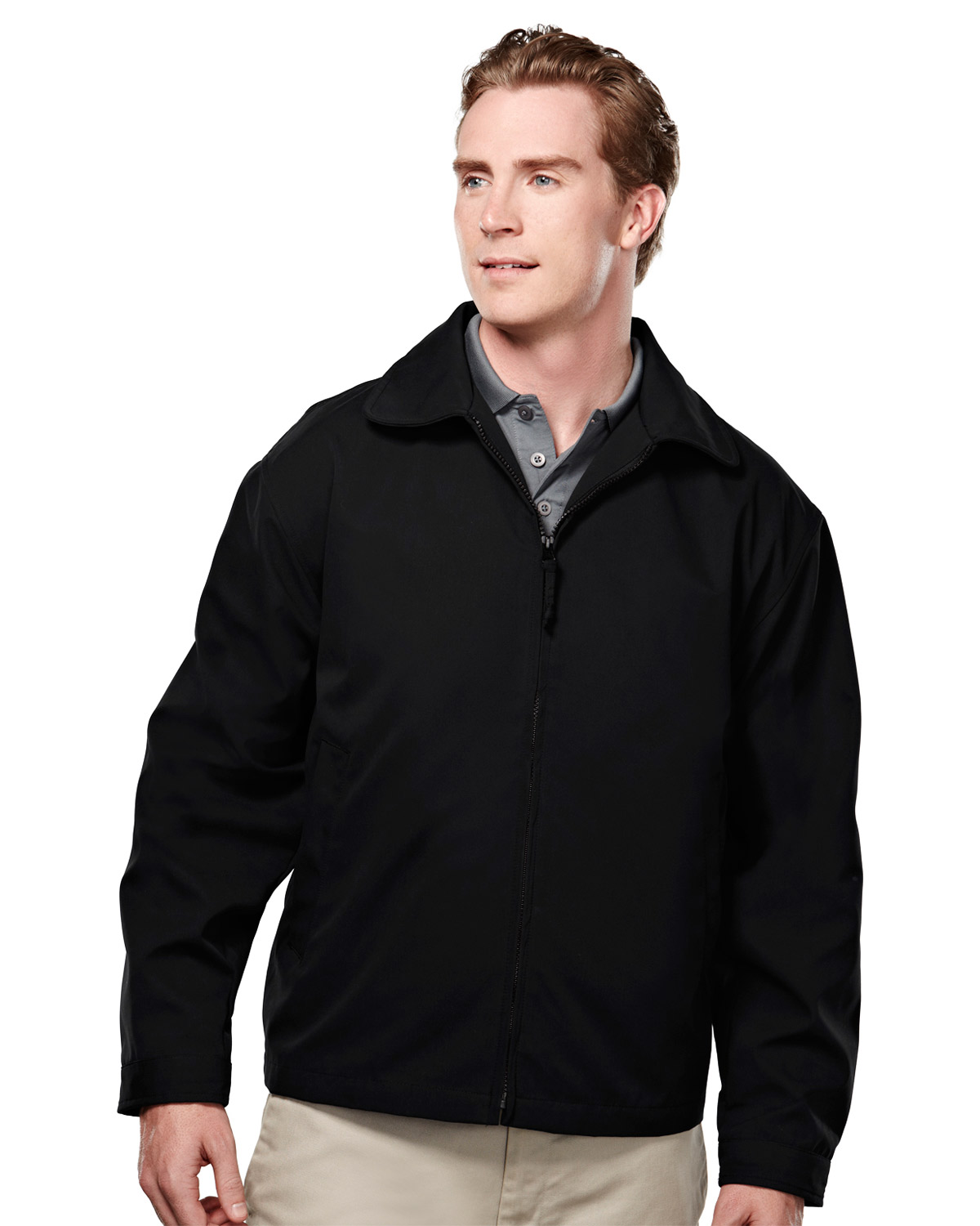 Tri-Mountain 2990 Men's Avenue Soft Twill Polyester Jacket With Nylon Lining at GotApparel