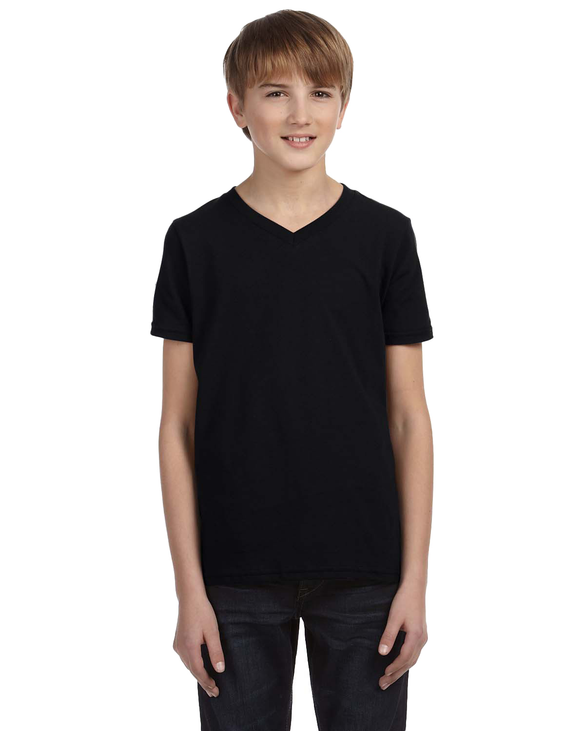 Bella + Canvas 3005Y Boys Jersey short sleeve V-Neck T-Shirt at GotApparel