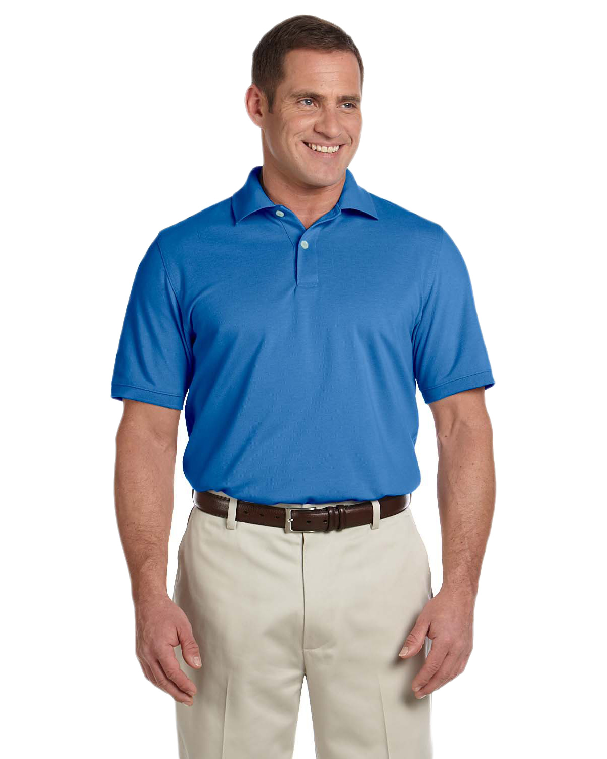 Ashworth 3028C Men's Combed Cotton Pique Polo at GotApparel