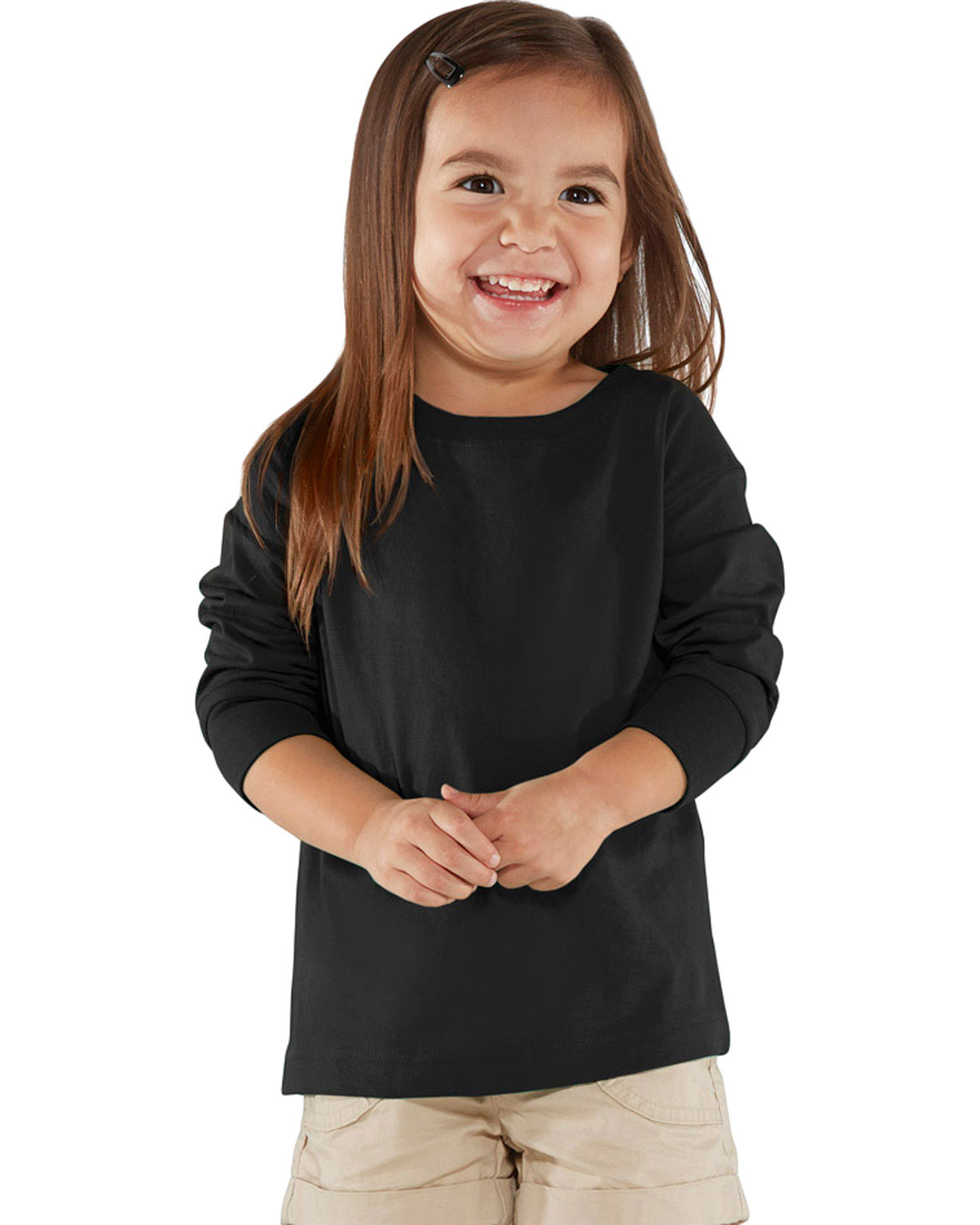 Rabbit Skins 3302 Toddlers Long Sleeve T-Shirt at GotApparel