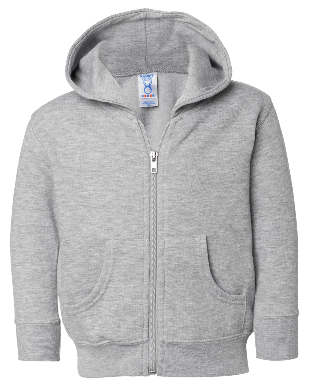 Rabbit Skins 3346 Toddlers Full-Zip Hoodie at GotApparel