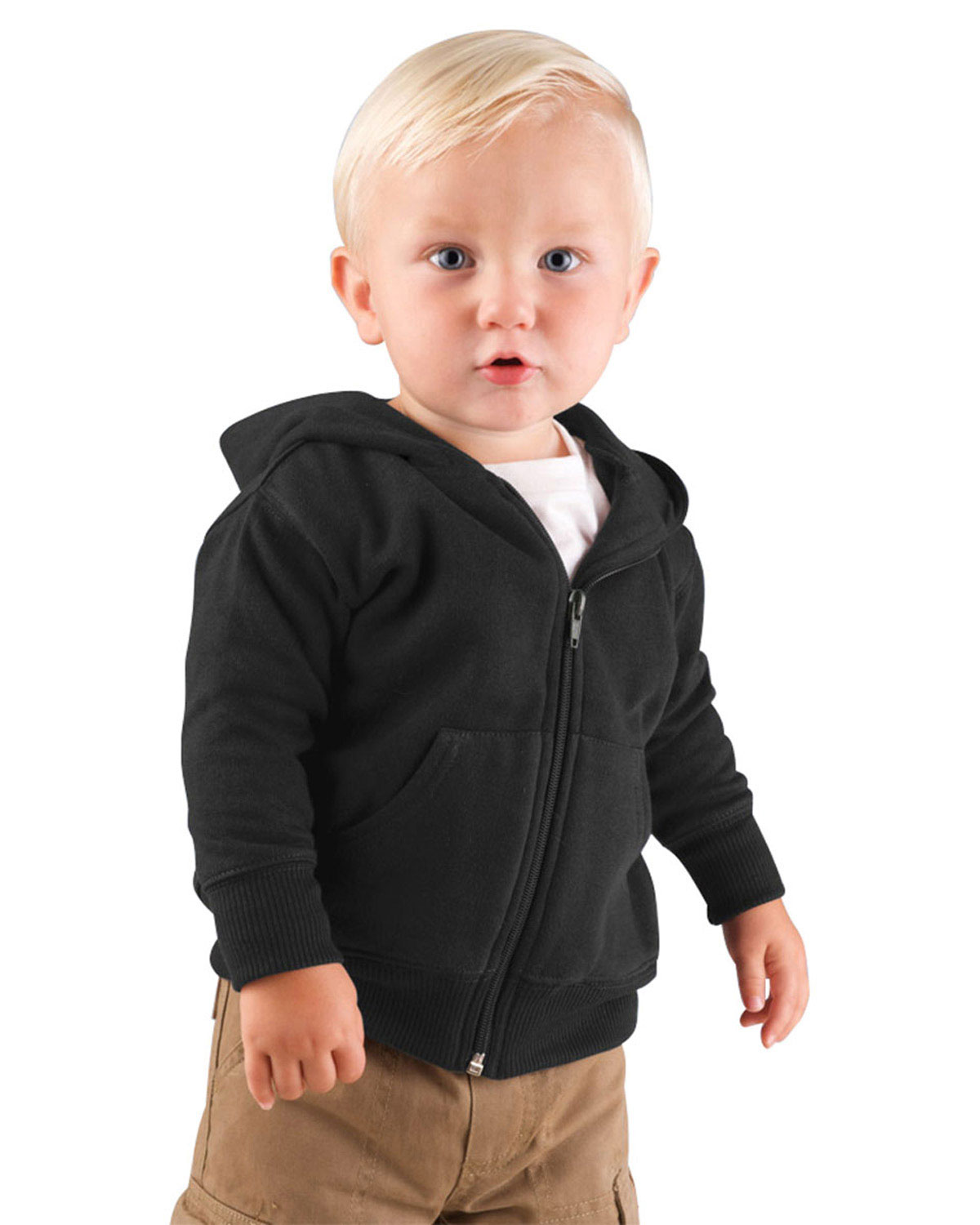 Rabbit Skins 3446 Infants Zip Ss W Hood at GotApparel