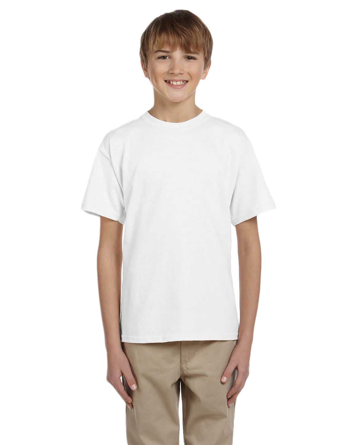 Fruit of the Loom 3931B Boys 5 oz., 100% Heavy Cotton HD T-Shirt at GotApparel