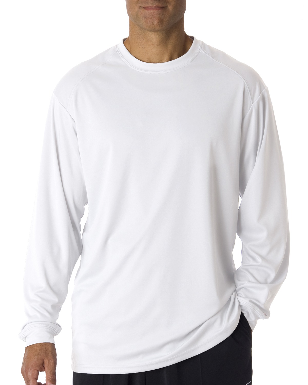 Badger 4104 Men BCore Long Sleeve Performance Tee at GotApparel