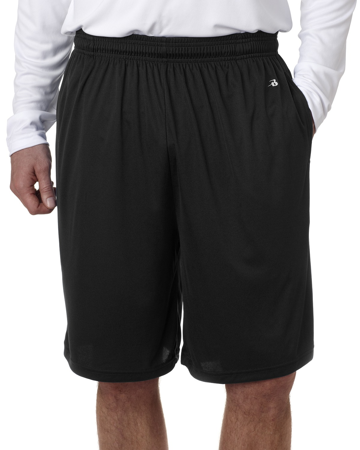 Badger 4119 Men BCore 10&quot Performance Shorts with Pockets at GotApparel