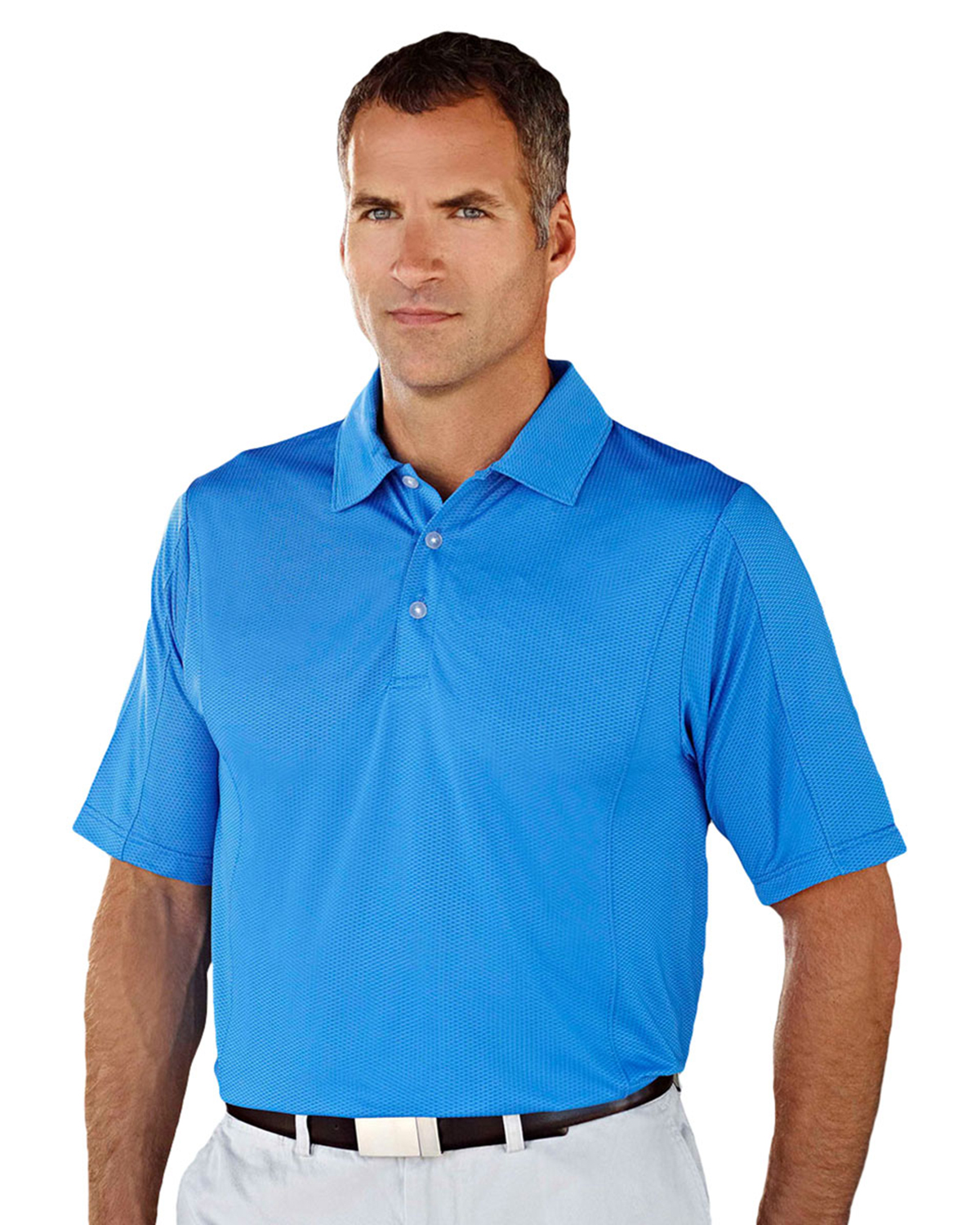 Men S 90 Polyester 10 Spandex Knit Polo Shirt