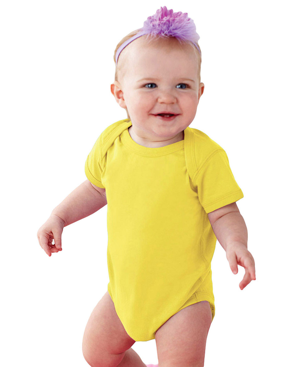 Rabbit Skins 4424 Infants Fine Cotton Jersey Lap Shoulder Bodysuit at GotApparel