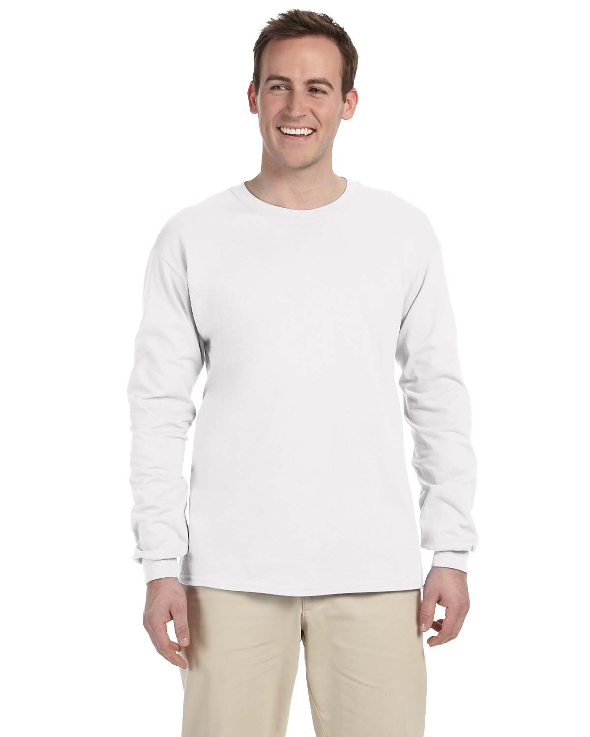 Fruit of the Loom 4930 Men 5 oz., 100% Heavy Cotton HD LongSleeve T-Shirt at GotApparel