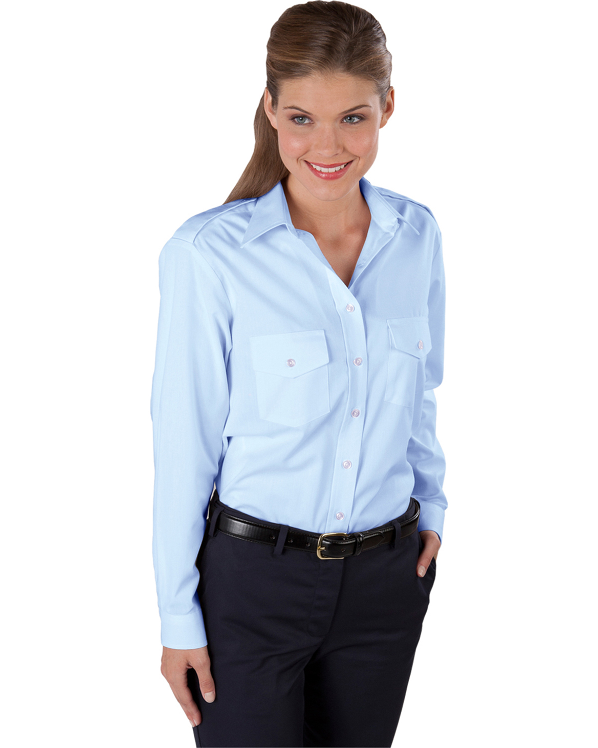 Edwards 5262 Women's Navigator Long-Sleeve Blouse at GotApparel