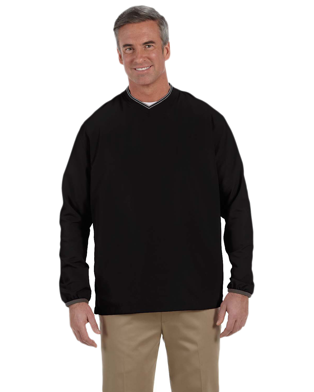 Ashworth 5267 Men V-Neck Wind Jacket at GotApparel