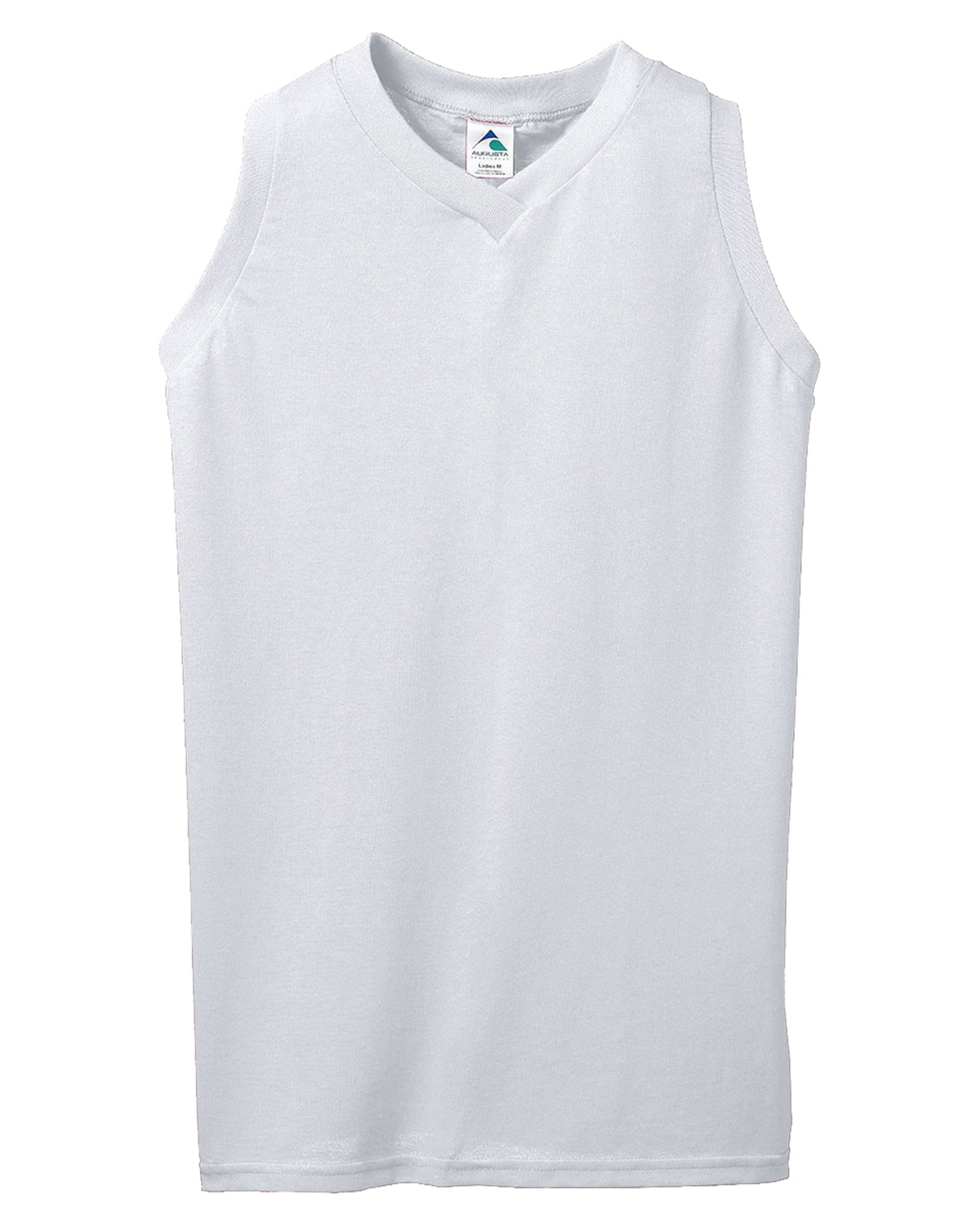 Augusta 557 Girl's Sleeveless V-Neck Poly/Cotton Jersey at GotApparel