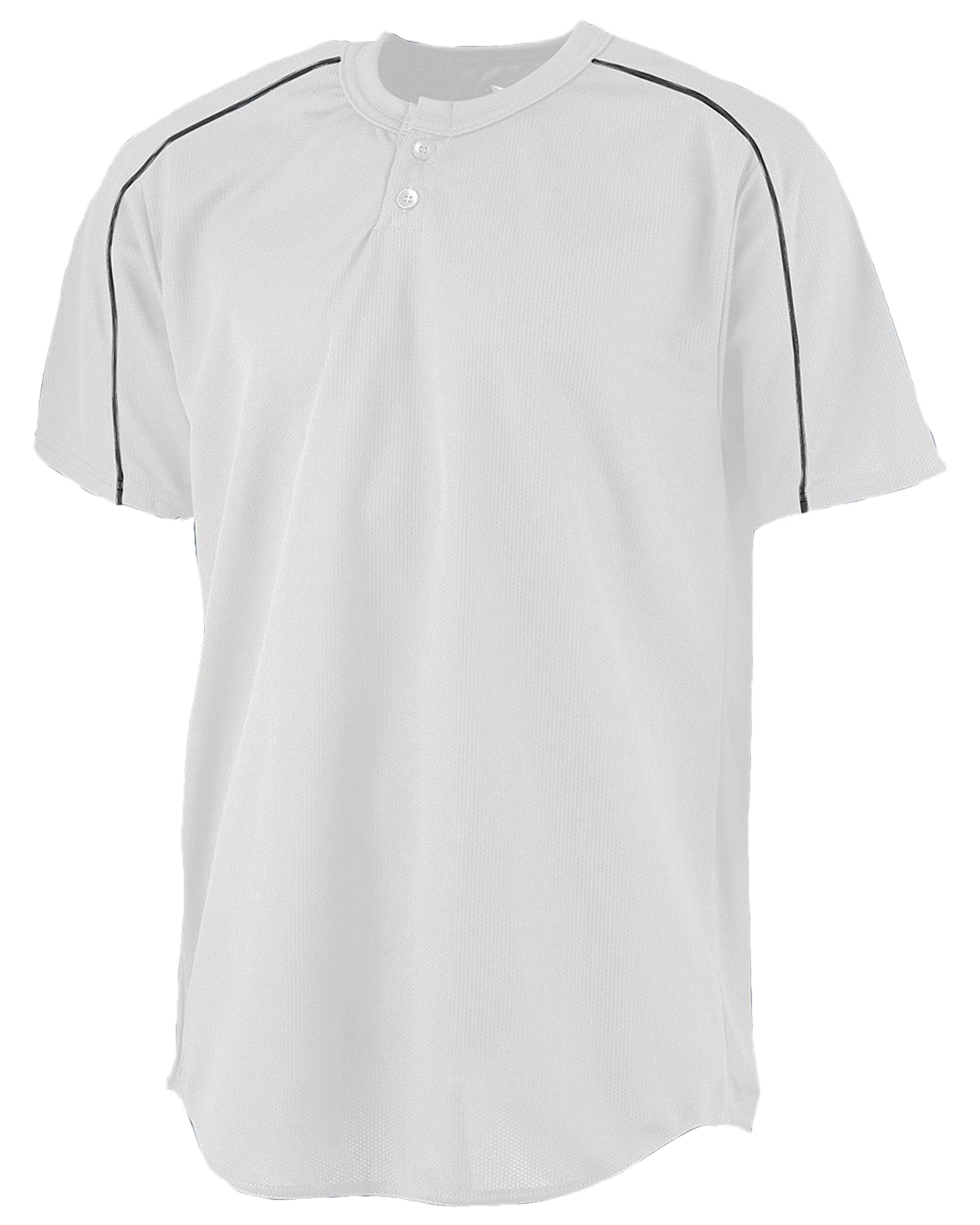 Augusta 585 Men Wicking Two-Button Baseball Jersey at GotApparel