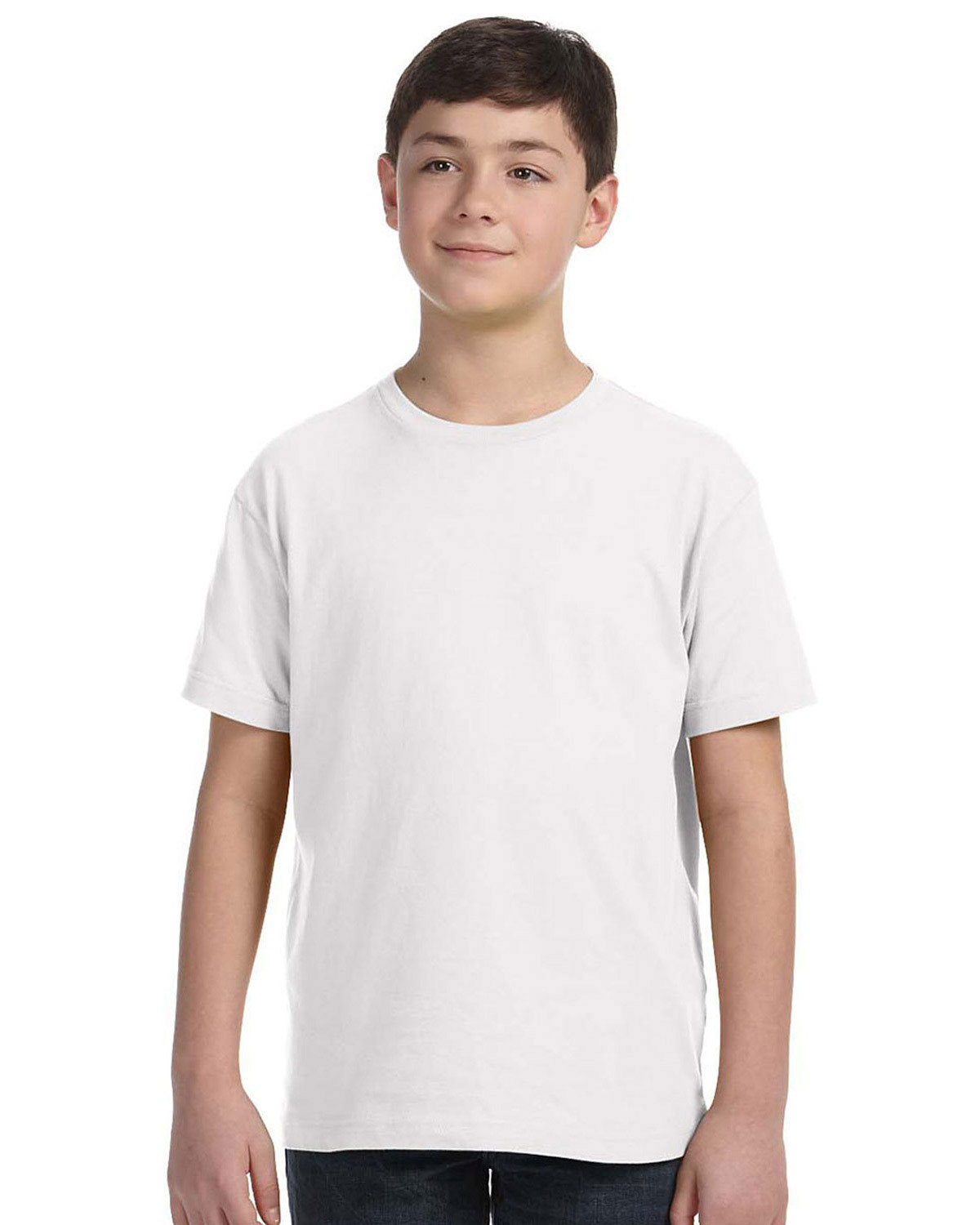LAT 6101 Boys Fine Jersey Tee at GotApparel