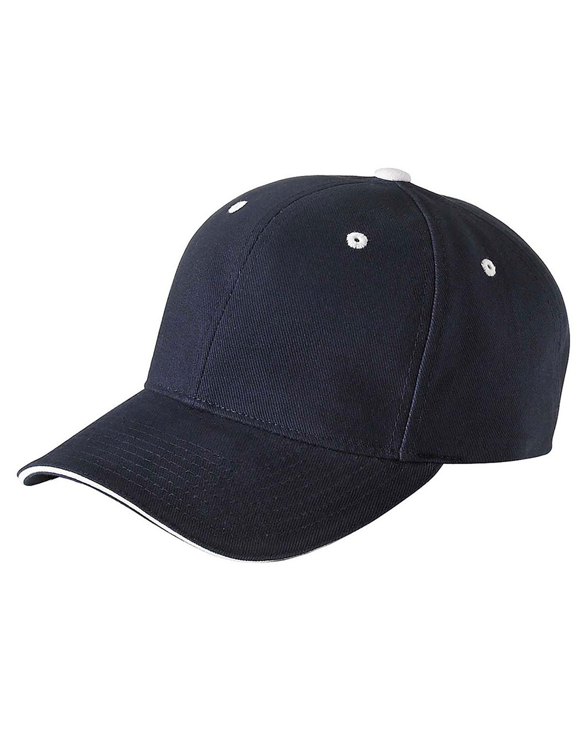 Yupoong 6262S Unisex Brushed Cotton Twill 6Panel Mid-Profile Sandwich Cap at GotApparel