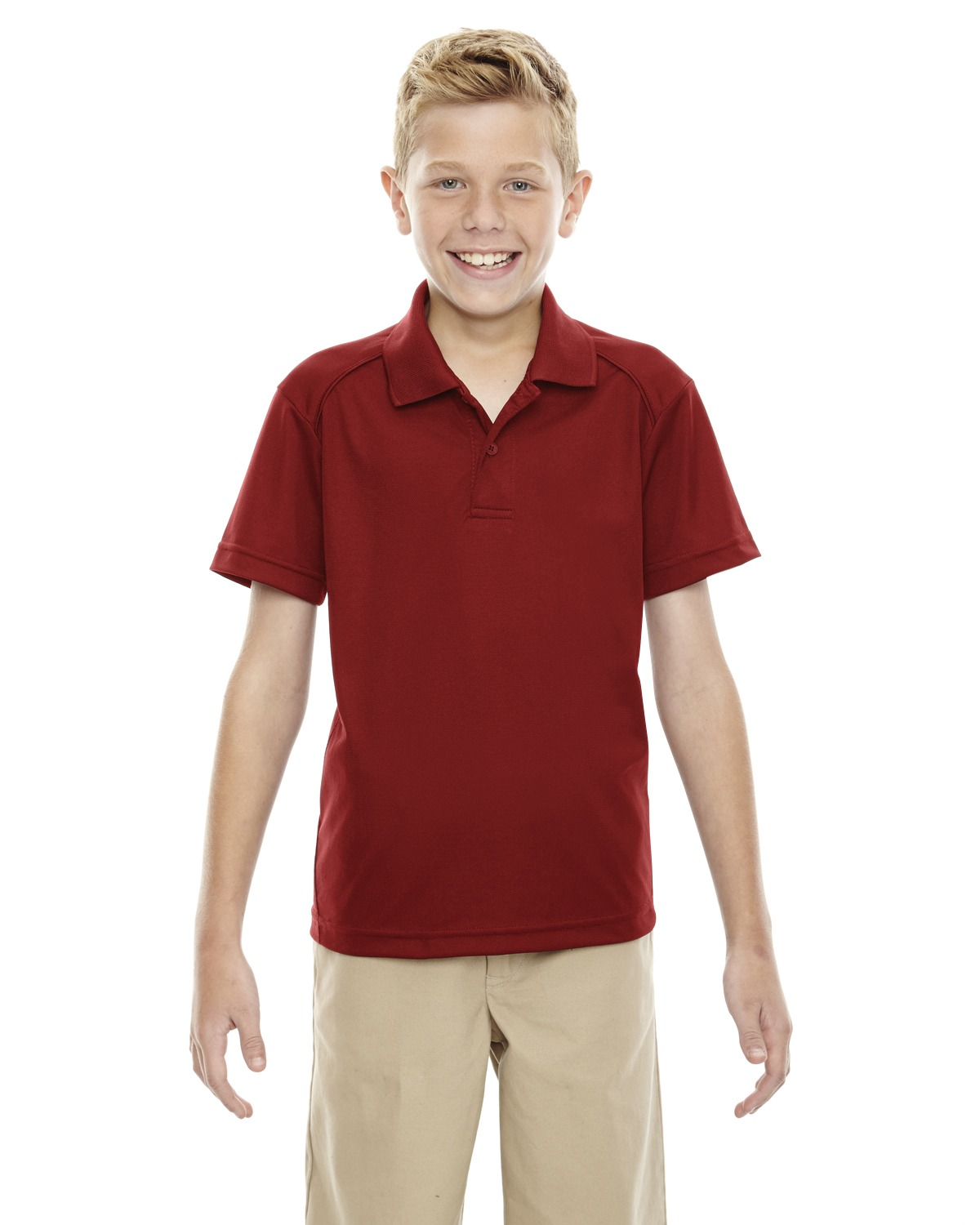 Extreme 65108 Boys Eperformance Shield Snag Protection short sleeve Polo at GotApparel