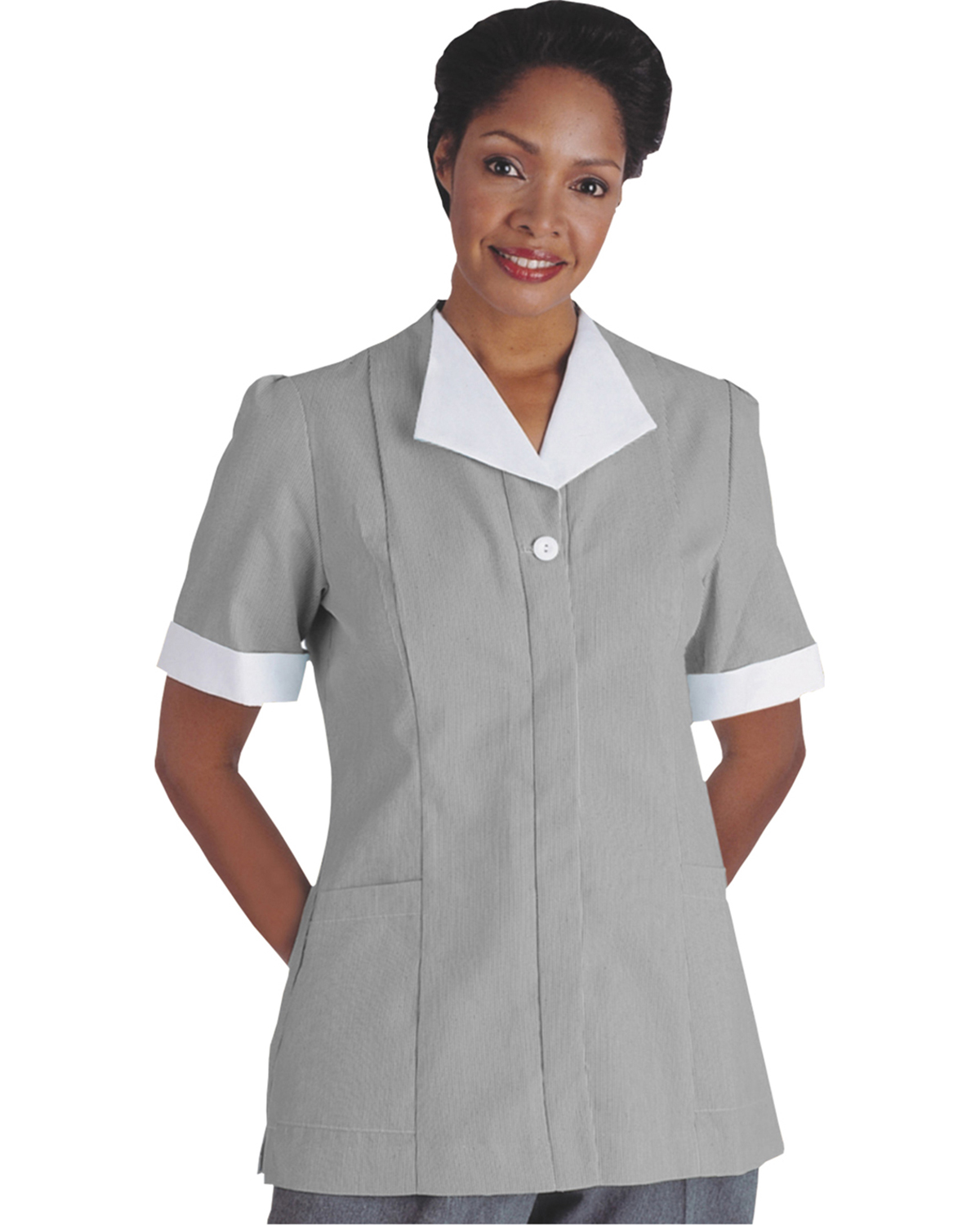 Edwards 7275 Women's Cord Short-Sleeve Housekeeping Tunic at GotApparel
