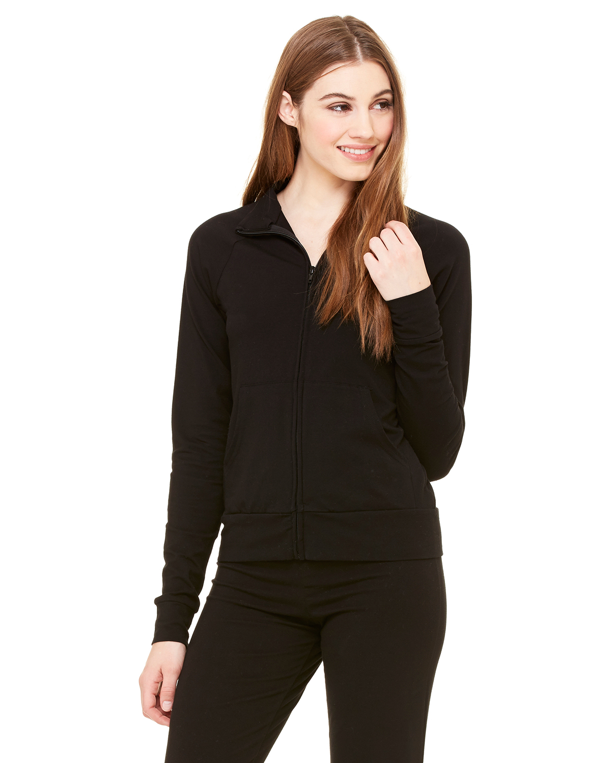 Bella + Canvas 807 Women Cotton/Spandex Cadet Jacket at GotApparel