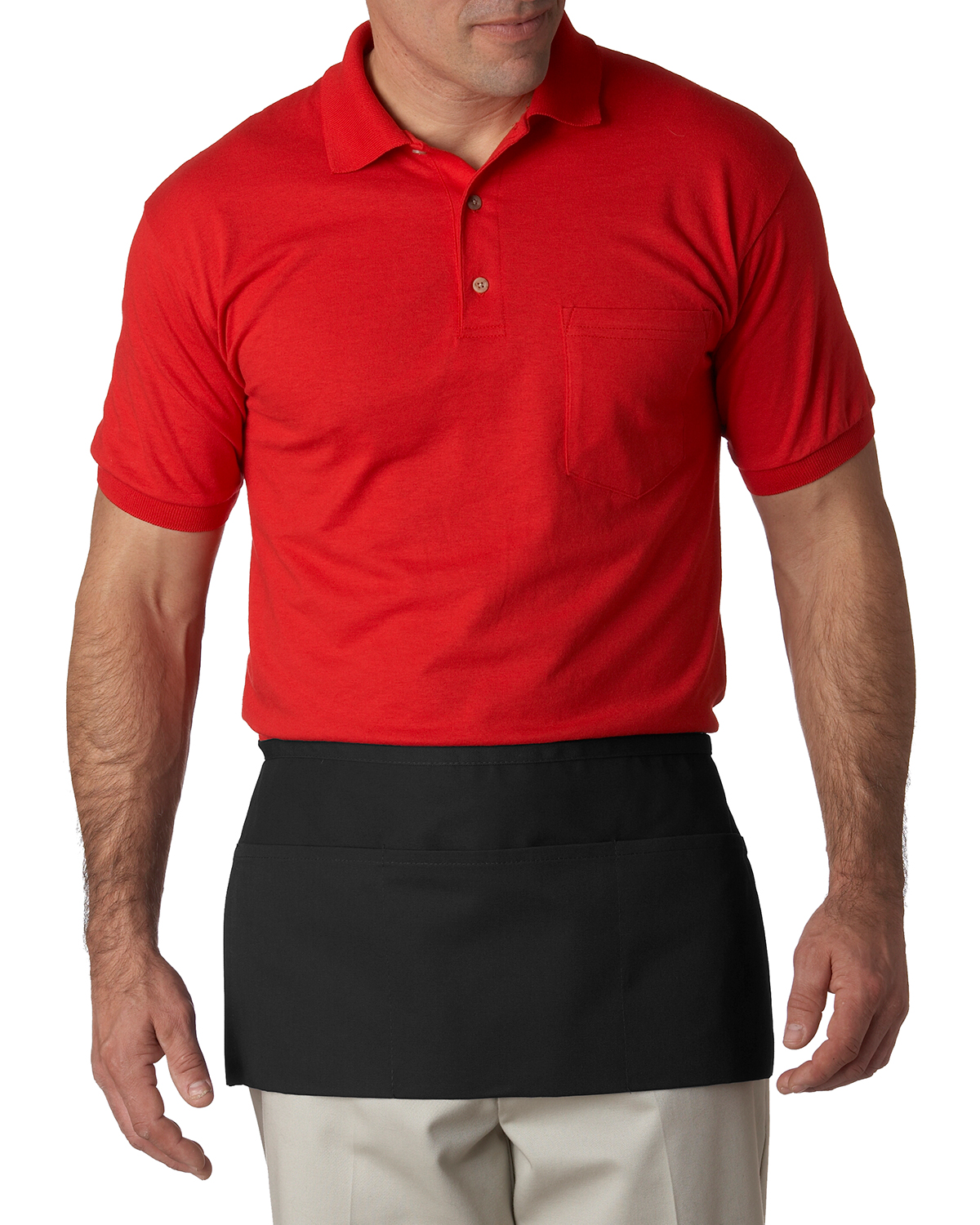 UltraClub 8203 Unisex 3-Pocket Waist Apron at GotApparel