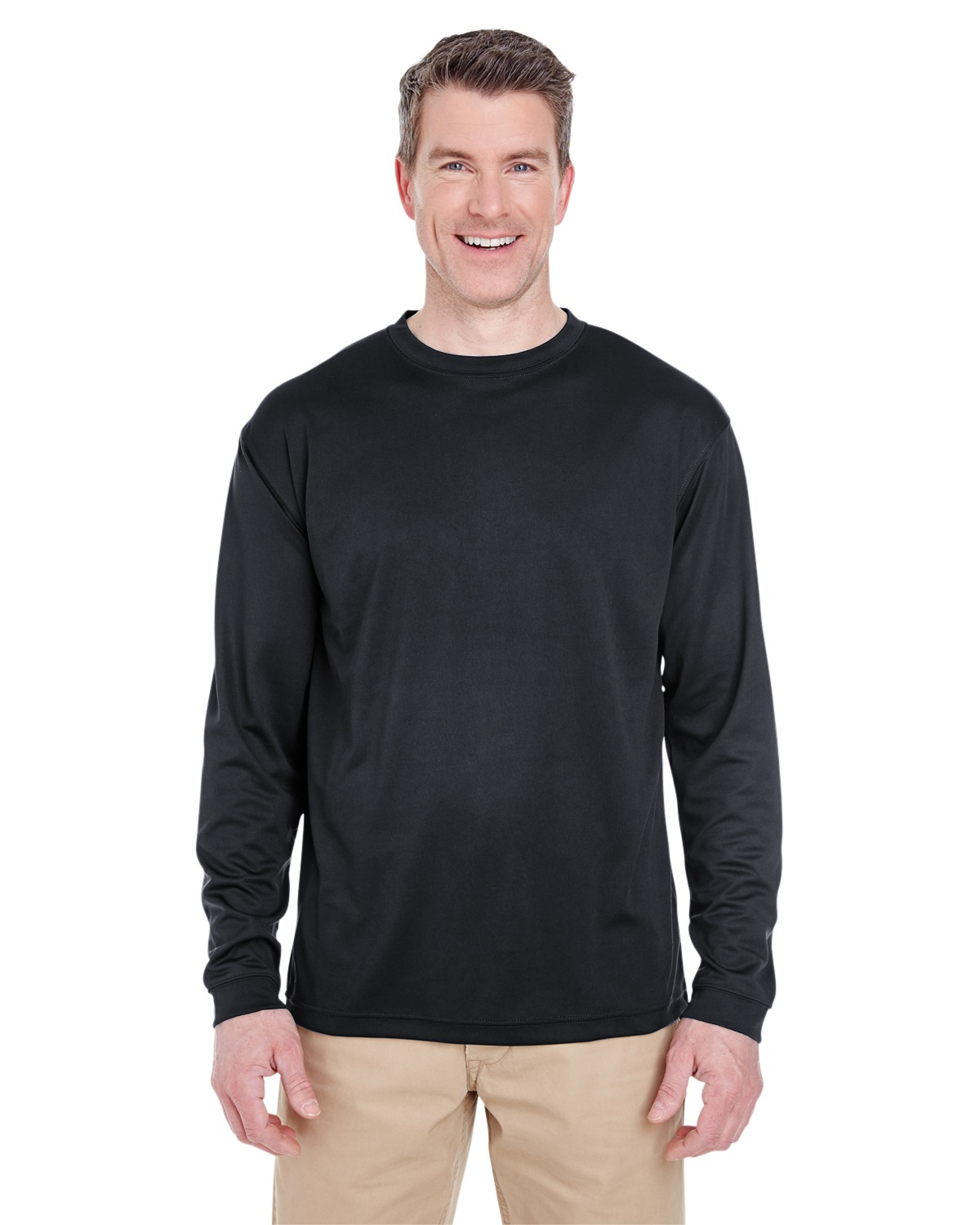 UltraClub 8401 Men Cool & Dry Sport Long Sleeve Tee at GotApparel
