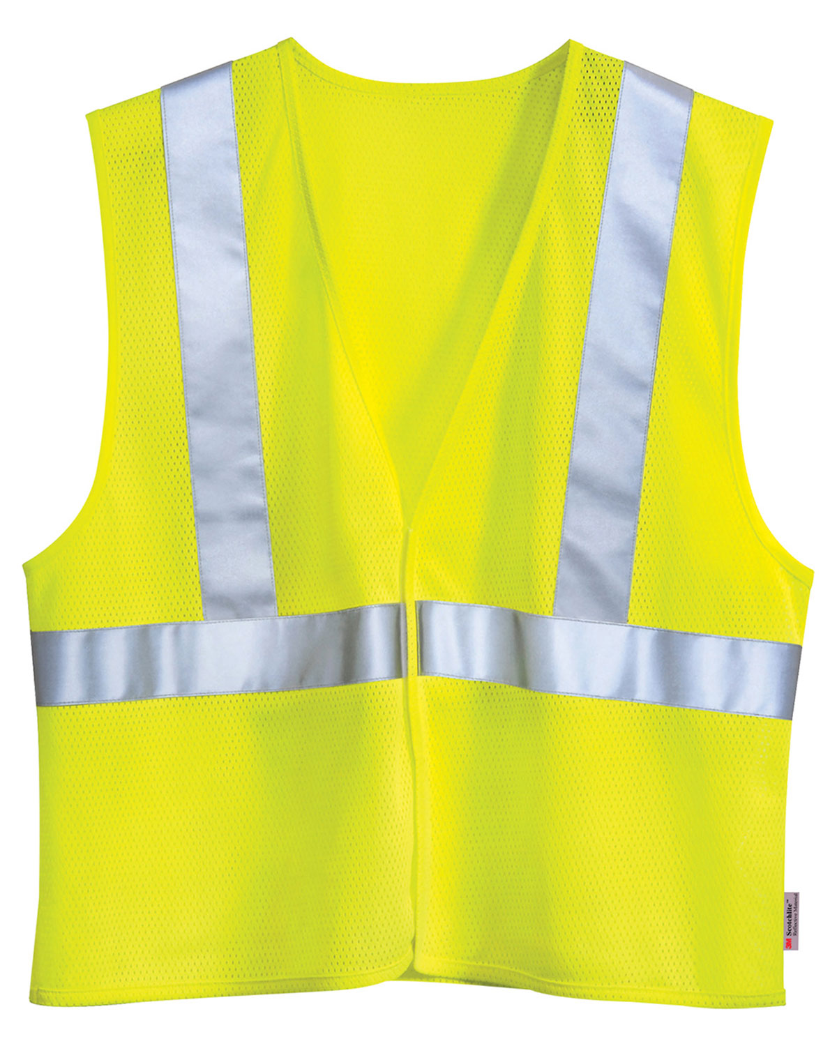 Tri-Mountain 8430 Men's Zone Polyester Safety Vest Ansi Class 2 / Level at GotApparel