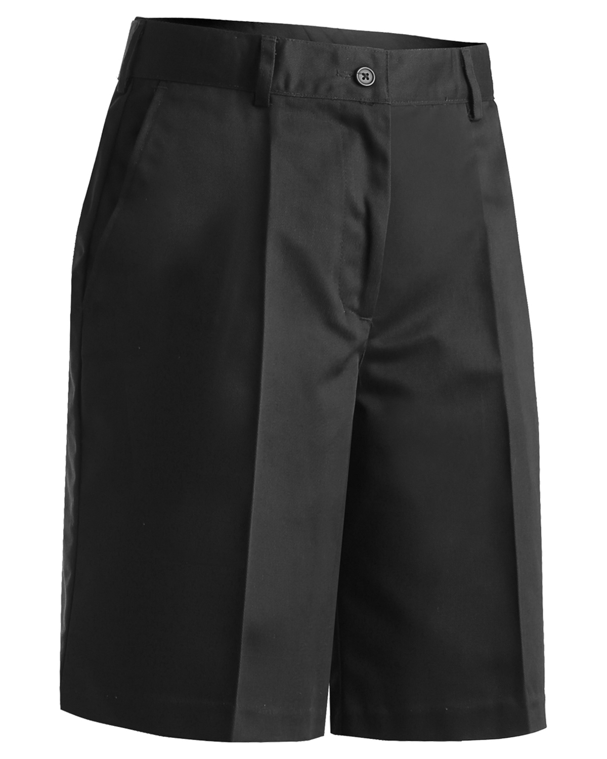 Edwards 8465 Women's Flat Front Brass Zipper Wrinkle Resistant Chino Blend Short at GotApparel